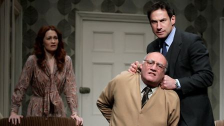 The Business of Murder by Richard Harris at the New Wolsey Theatre Joanna Higson and Paul Opacic as