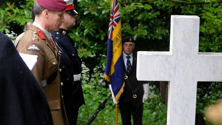 Colonel Gary Wilkinson CBE, Commander of Colchester Garrison, Sergeant Andy Gibson, Royal Marines an