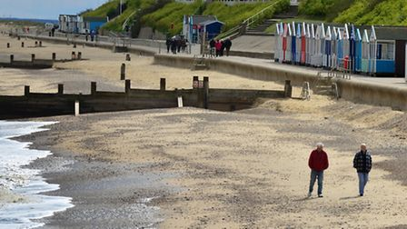 Southwold beach which has been awarded a Blue Flag.