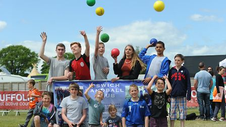Visitors got to take part in a range of activities in the sports village at the Suffolk Show 2015. T