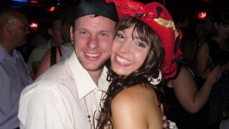 Daniel Turner with his late girlfriend Michelle Dring