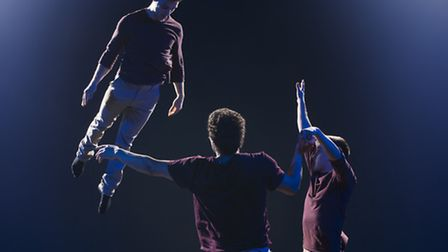 Bromance, a circus-skills performnace that opens this year's Pulse theatre festival at the New Wolse