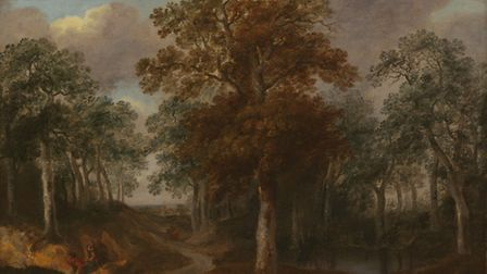 Cornard Wood by Thomas Gainsborough which is believed to have been painted in the area where the hou