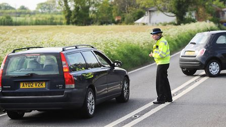 The A134 in Bradfield Combust was closed in both directions between the A1141 junction and Little We