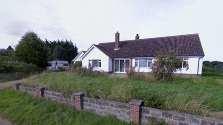 The existing bungalow on Norwich Road in Dickleburgh that will be demolished to make way for a new h