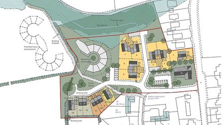 Plans for the proposed development of 22 new homes off Norwich Road in Dickleburgh. Picture: La Rond