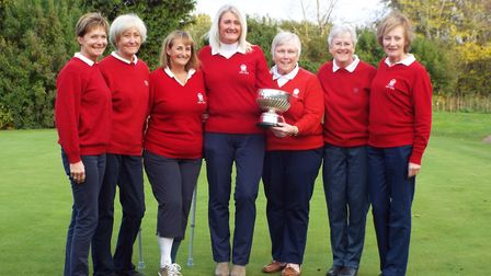 Diss Golf Club Ladies have marked winning the final of the Suffolk County Stearn Trophy. Picture: St
