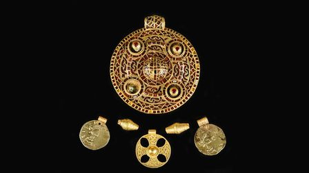 The Anglo-Saxon pendant from the Winfarthing grave assemblage. Pic: Norfolk Museums Service.