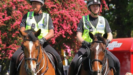Suffolk Constabulary launch the Special Constables on Horseback scheme at the Suffolk Show.
