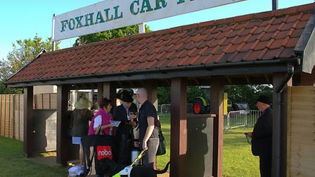 Early arrivals at the 2015 Suffolk Show.