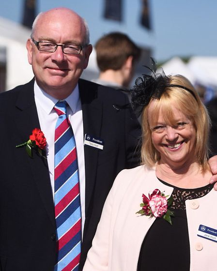 Show president Terry Hunt with wife Jane