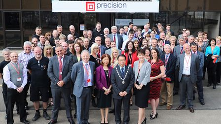 The opening of Precision Marketing's new headquarters in Bury St Edmunds.