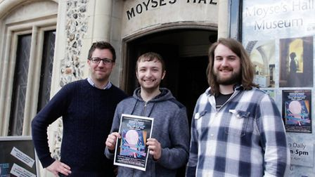 From left to right Dan Clarke, Jack Everett and Ben Donnelly-Symes, heritage trainees who have organ