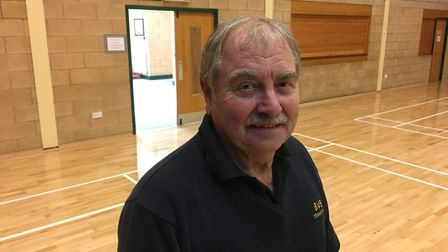 Roy Stubington, chairman of Banham Community Centre, in the main hall that has been revamped followi