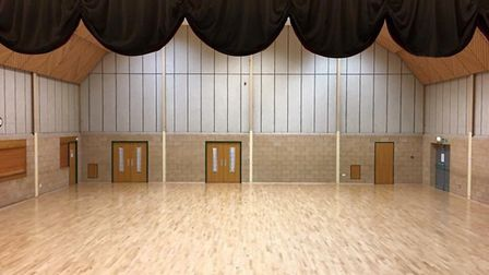 The revamped main hall at Banham Community Centre, popular with local groups and societies, that was