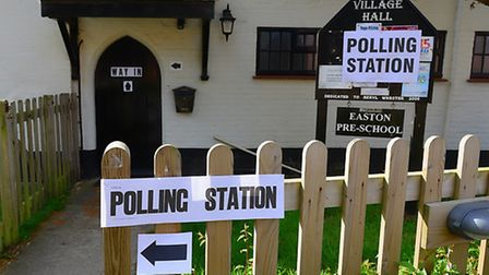 The Polling Station in the village of Easton.