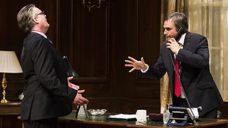 """Tristram Whymark and Gerald Kyd in""""Feed The Beast"""" by Steve Thompson, directed by Peter Rowe, a new"""