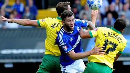 Ipswich Town entertain local rivals Norwich City at Portman Road last year