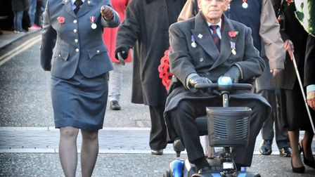 Former and current servicemen and women were amongst the Remembrance Day parade through Diss before
