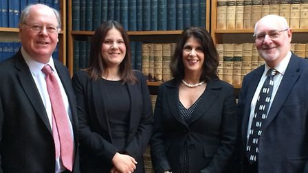 Gotelee Solicitors chief executive Alistair Lang, new partners Marie Allen and Diana Infanti and sen