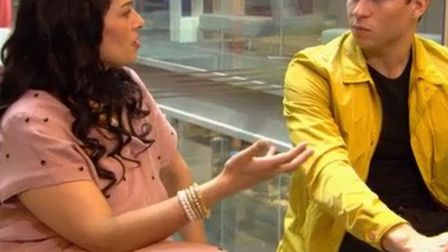 Priti Patel meets Joey Essex during tonight's show. Picture: ITV/Lime Pictures.