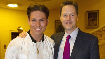 Joey Essex meets Nick Clegg. Picture: Des Willie/Lime Pictures.