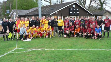 The benefit match for David Bloomfield played between the Suffolk Senior cup winning side of 2004 an