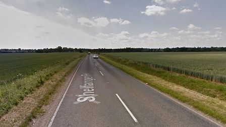 An accident has taken place on Shelfanger Road near Diss. PHOTO: Google Maps