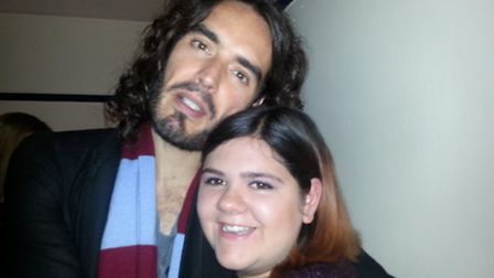 Kim Cook with Russell Brand at the Ipswich Regent