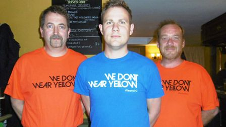 Town fan Tim Hodgson has designed his We Don't Wear Yellow T-shirts, and is fundraising for the Pros
