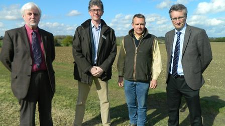 Richard Rampton, of the Centre for Contemporary Agriculture (CCA), Richard Anscombe of FramFarmers,