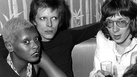 Chris Charlesworth and David Bowie in 1974