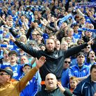 Ipswich Town fans show their appreciation at the end of the match.