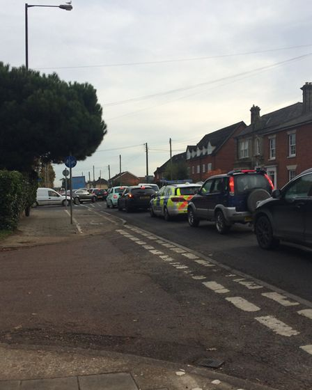 Road works on Victoria Road have been causing tailbacks. PHOTO: Sophie Smith