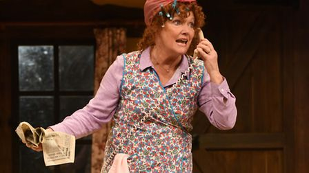 Dotty Otley, played by Louise Jameson, in Noises Off, by Michael Frayn, at The Colchester Mercury