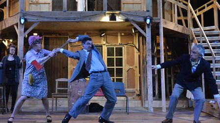 Mayhem backstage in the classic farce Noises Off, by Michael Frayn, at The Colchester Mercury