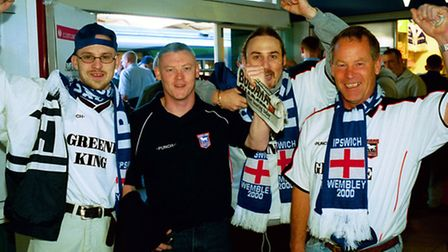 Fans at Wembley for 2000 play off final