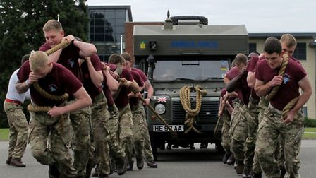 Colchester-based soldiers have taken part in a number of physical challenges to raise money to help
