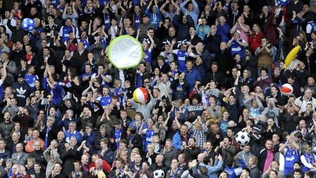 Ipswich Town fans enjoyed the dramatic 1-0 win at Watford. Photo: PAGEPIX LTD