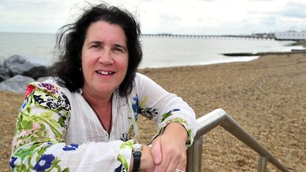 Felixstowe playwright Suzanne Hawkes who has written and researched Shakespeare in Suffolk, a new pl