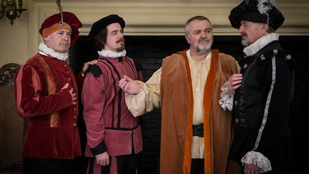 The cast of Shakespeare in Suffolk at Christchurch Mansion