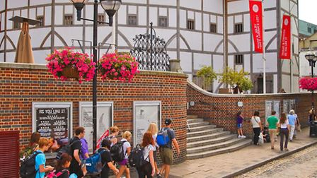 The restored Globe Theatre on London's Southbank. When the original Globe was closed because of plag