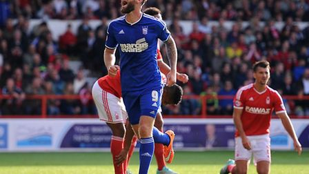 Ipswich Town's Daryl Murphy celebrates after scoring his side's second goal of the game during the S