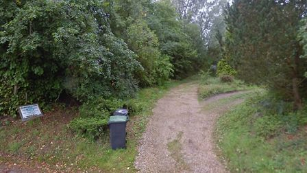 Entrance to the former site of Goldbrook Plants in Hoxne where 20 new homes are planned. Picture: Go