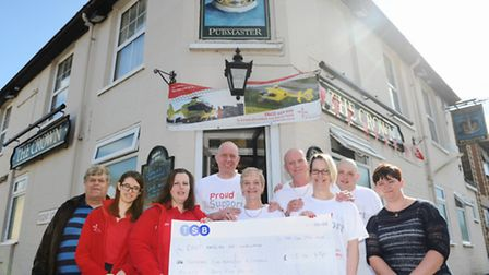 Owen Lambert, Stephen and Jackie Snell, Baz and Leanne Coleman, Dean Parker, and Steph Hodgkins from