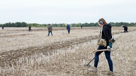 Detectorists from Norfolk Heritage Recovery Group undertook two digs in Old Buckenham in August and
