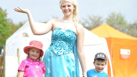 People enjoyed bank holiday Monday at Feering fete. L-R Phoebe Fisher,Hope Woolston,Ollie Fisher.