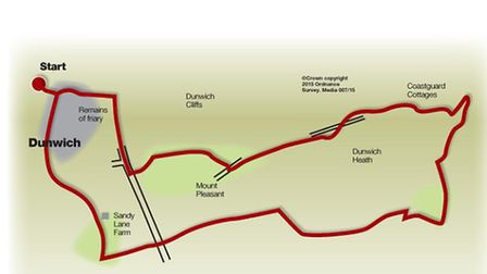 Route of the Dunwich walk