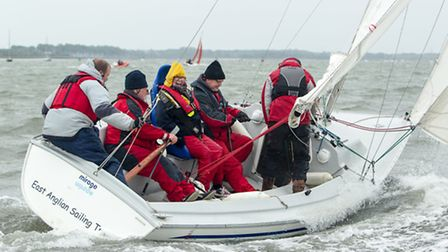 The East Anglian Sailing Trust�s (EAST) taster week on the River Orwell as part of the Royal Yachtin
