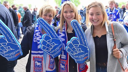 Ipswich fans before the match with Norwich.
